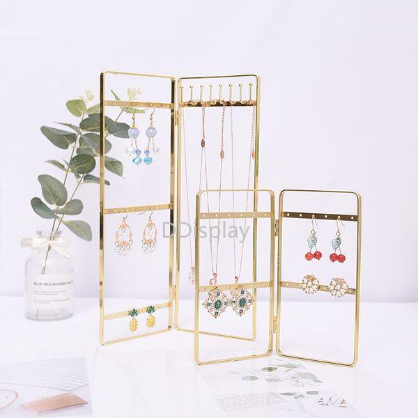 [DDisplay]Vintage Style Earring Ladder Jewelry Stand Window Display Gold Necklace Jewelry Storage Bracelet Metal Jewelry Display