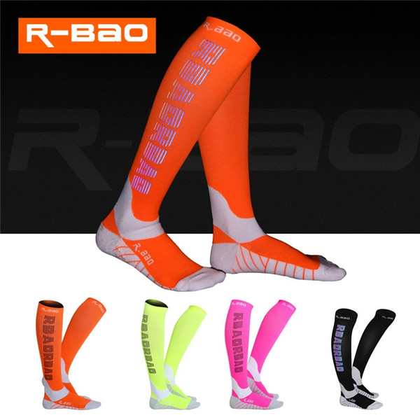 affb27d0114 R-BAO Professional Colorful Reflective Compression Running Socks High Grade  Reflecting Logo Function Night Run