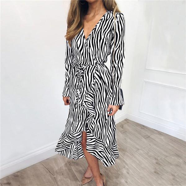 abito in chiffon zebra C3