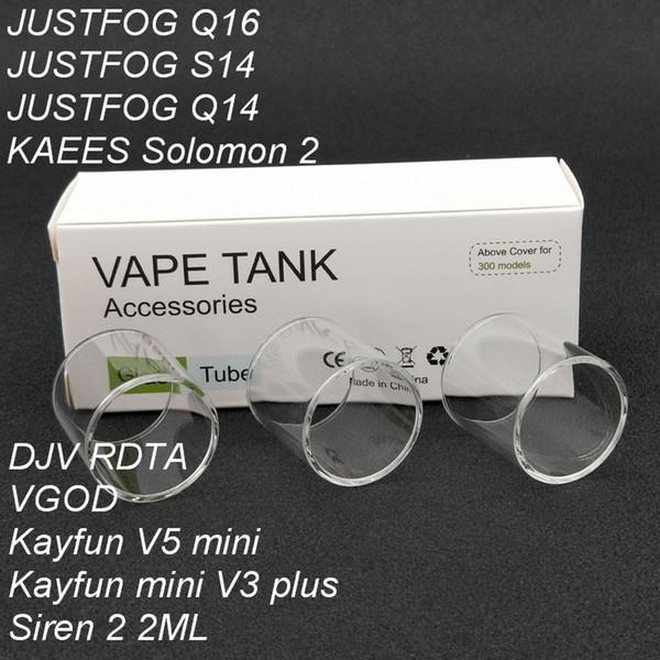 30pcs Original Replacement Pyrex Glass Tube For DJV RDTA/Kayfun mini V3 PLUS/KAEES Solomon 2/VGOD/kayfun v5 mini Tank Atomizer