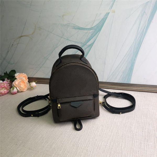 best selling Mini backpack lady Genuine Leather Backpacks fashion back pack women handbags Presbyopic Mini shoulder bag Mobile Phone Purse 2 colors