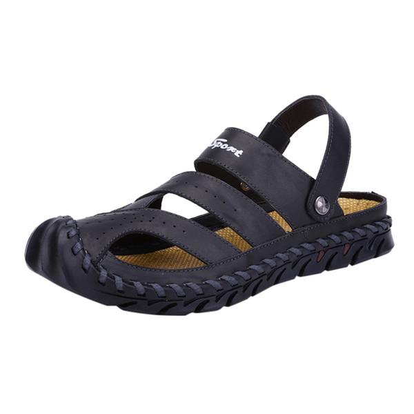 Nice homens sandálias calçados casuais homens Verão Grande Size38-55 Non-Slip Sandálias Sapatos Tendência preguiçoso mocassim Praia Casual Início