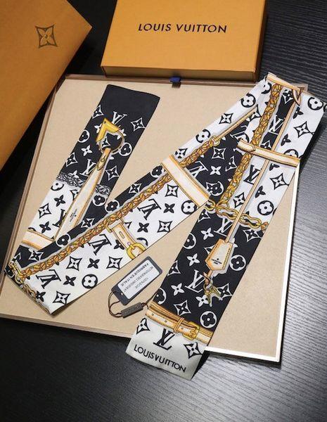 marchio di vendita calda Designer Sacchetto di seta Borsa sciarpa fasce Nuovo marchio di donne scraves catena 100% superiore del sacchetto di seta Bande 8x120cm 1848