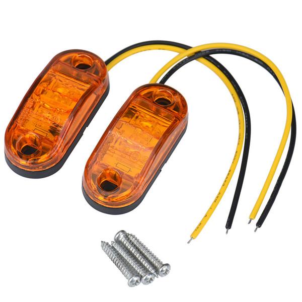 Franquicia de 6,5 * 3,6 * 1,2 cm 2PC 12V / 24V carro de remolque de marcador lateral, luz LED sumergible bulbos de lámpara de 100W LED de la niebla carro de la lámpara de luz # 507