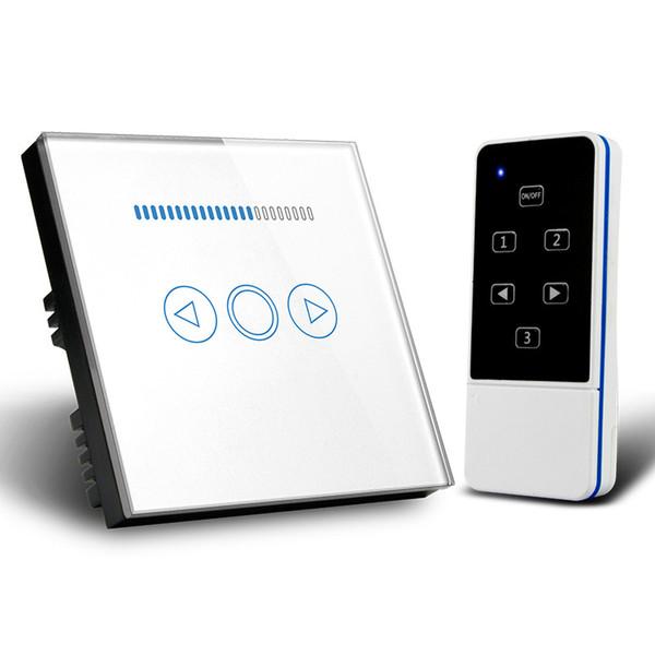 EU/UK Standard Wireless Remote Control Dimmer Light Switch 1 Gang Touch Panel 110V to 240V Blue LED Backlight DIY Smart Home