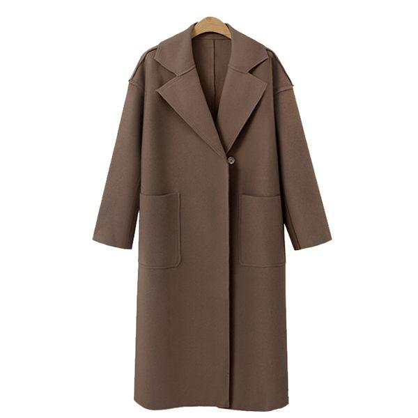 Hochwertige neue Damen Casual Blazer 2019 Casual Dress Wollmantel elegante Büro Damen Langarm langen Abschnitt S-XL