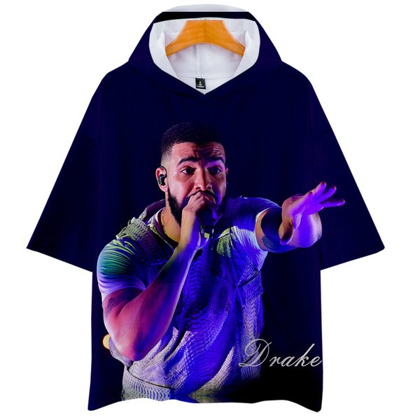 Time Shirt Leisure Drake Motion 3d Digital Printing Belt Cap Short Sleeve T Shirts