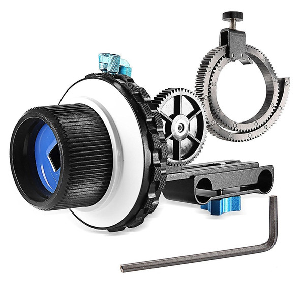 Freeshipping A-B Stop Follow Focus C2 with Gear Ring Belt for Nikon/Canon/Sony DV/Camcorder/Film/Video Cameras Fits 15mm Rod Mounts