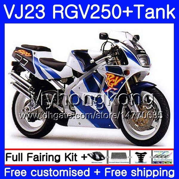 Corpo + serbatoio per SUZUKI VJ21 RGV250 88 94 95 96 97 98 309HM.0 RGV-250 VJ23 VJ 22 RGV 250 1988 1994 1995 1996 1997 1998 Carena Hot Factory blu