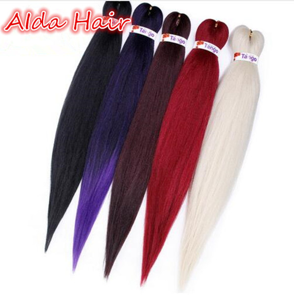 top popular Synthetic for Braiding Hair 20 26Inch Pre stretched Layed Perm Yaki Easy Braids Ombre Color Fluffy Yaki Straight Jumbo Braid for BOX braids 2020