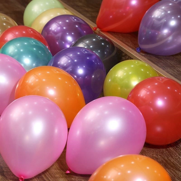 best selling 2.2g Pearl Latex Thickening Multicolor Balloon for Wedding Decorations Air Ball Party Supplies Happy Birthday