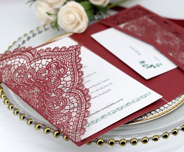 2019 Special Wedding Invitations Cards Personalized Custom 3 Color Hollowed Out Greeting Cards Anniversary Invitations Hot Selling By DHL