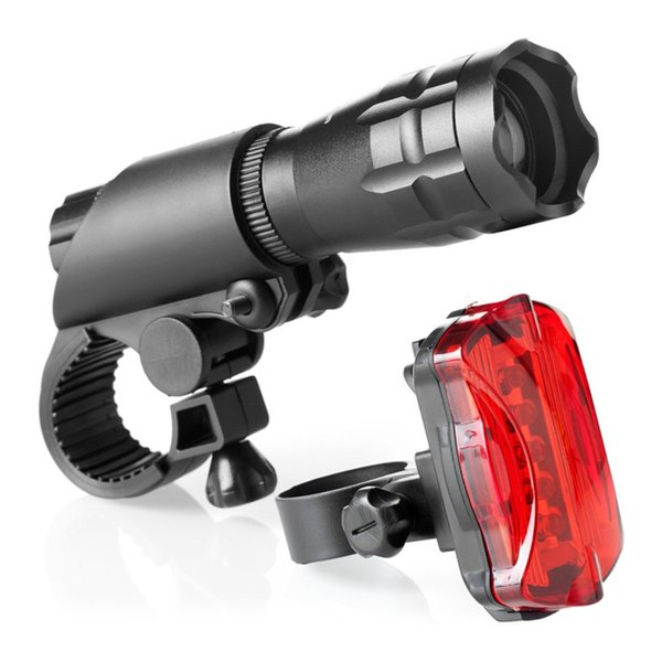 Bike Light Solar\USB Rechargeable Waterproof LED Mountain Bicycle Taillight Tail Light Safety Warning Rear Lights Lamp