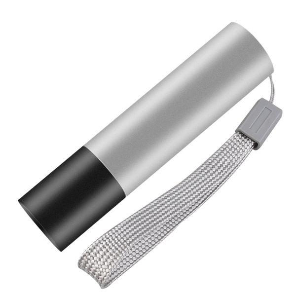 En Yangın USB Şarj Edilebilir Paslanmaz Çelik Parlama Mini El Feneri Taşınabilir LED El Feneri Su Geçirmez El Feneri Anahtarlık Işık