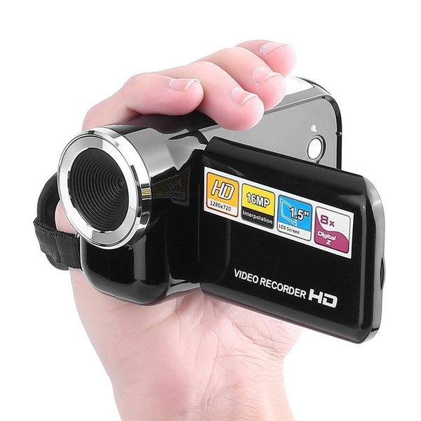"Mini Video Camera Full HD 1080P 16MP With 1.5"" TFT Screen 8X Digital Zoom USB2.0 Video Recorder Camcorder DV Camera SDHC/SD Card"