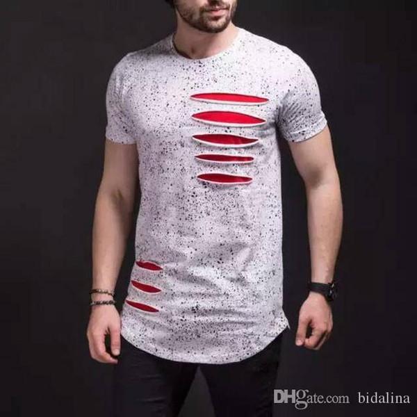 Curved Hem Hip Hop T-shirt Men Urban Kpop Extended T shirt Plain Longline Mens Tee Shirts Male Clothes Justin Bieber Kanye West