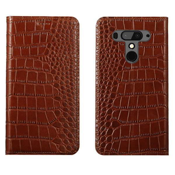 Ultra Slim Phone Case pour HTC U12 Plus Etui en cuir véritable de luxe pour HTC U12 Plus Etui à rabat avec fente pour carte