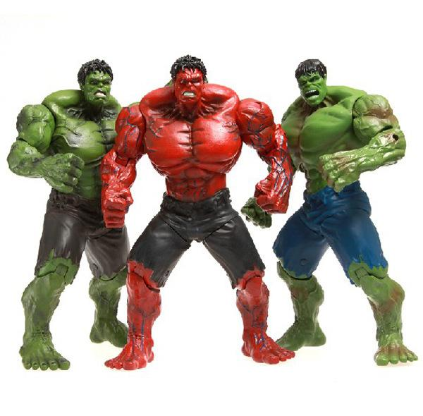 """Red Hulk Action Figure Green Hulk The Avengers 10"""" PVC Figure Toy Hands Adjusted Movie Lovers Collection Free shipping"""