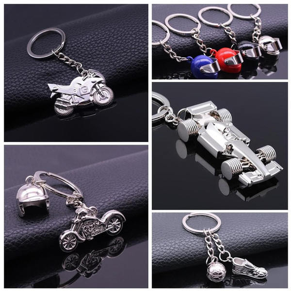 Hot 3D Model Motorcycle Key Ring Chain Motor car Silver Keychain New Fashion Cute Gift Free Shipping