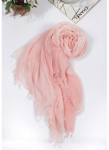 Осень зима шарф унисекс мужчины и женщины Мягкая кисточка Bufandas Cachecol Серый Woven морщинистой хлопок Мужчины шарфы