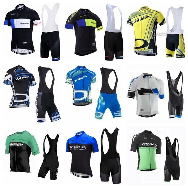 Orbea corte ciclismo corta uomini pantaloncini maglia bretelle set di breve estate del manicotto BIB traspirante maglia sport all'aria aperta imposta S1248