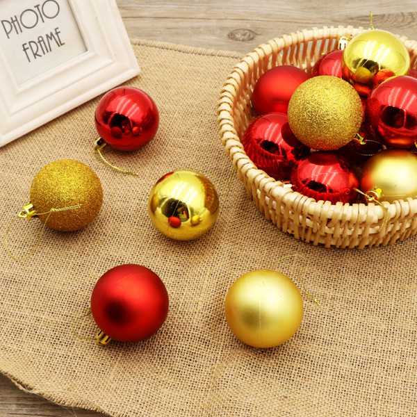 24pcs/lot Christmas Tree Decor Ball Bauble Hanging Xmas Party Ornament decorations for Home New Year Christmas decorations
