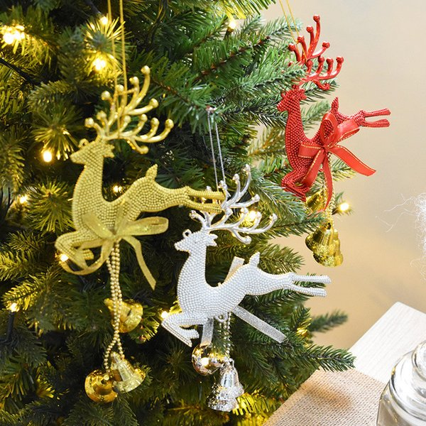 Christmas Trumpet Images.2019 Deer Bell Trumpet Deer Hanging Christmas Tree Baubles Gold Sliver Color Diy Christmas Ornaments Festival Party Xmas Tree Wall Home Bar Decor From