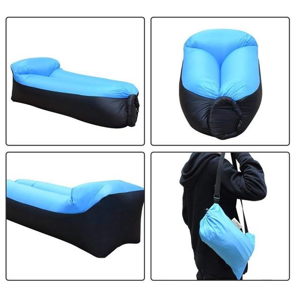 2019 Eğilim Açık Kamp Hızlı Infaltable Hava Çekyat ultralight Uyku Tulumu Tembel çanta Plaj Kanepe Laybag şezlong sandalye