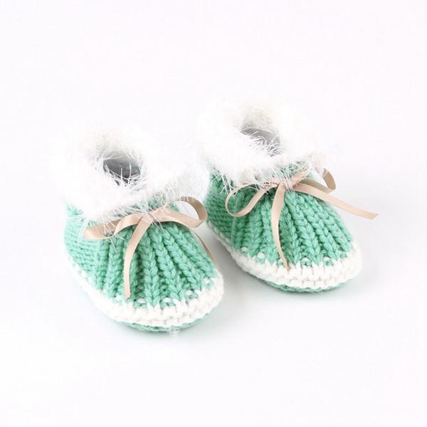 Niños Recién nacido Niño Botas de tejer calientes Botas de bebé cálidas Otoño Invierno Zapatos de niños Bebé lindo Primeros caminantes