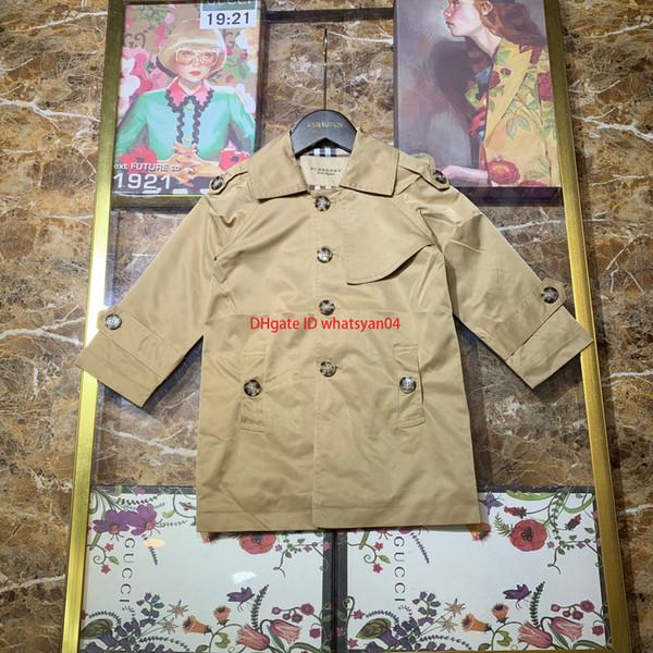 Rüzgarlık Çocuk Çocuk giysi tasarımcısı sonbahar yeni kruvaze pamuk astar rüzgarlık ceket erkek ve kız ceket