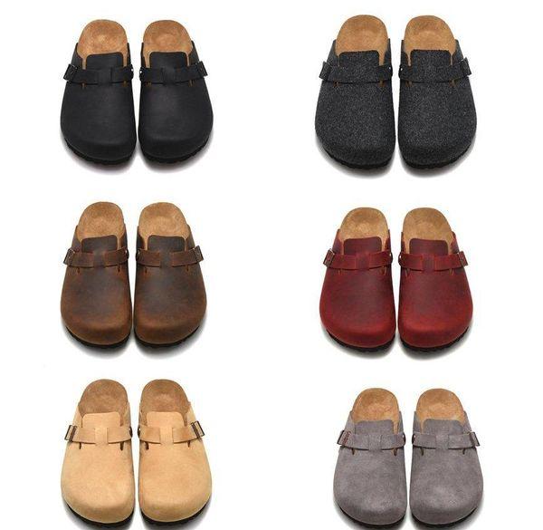 Venta al por mayor mujer hombre moda verano Scuffs diseñador transpirable semi pedal ocio casual zapatos damas zapatos sandalias zapatillas de corcho tamaño