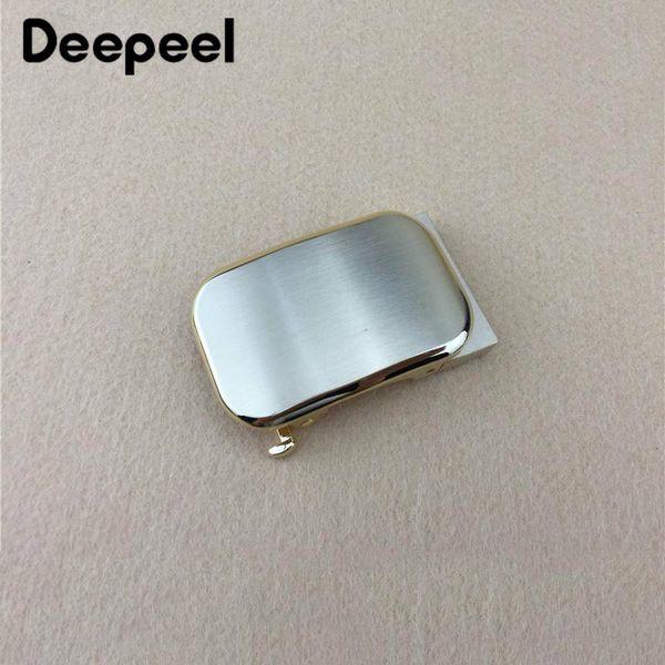 Deepeel edelstahl gürtelschnallen männer gebürstetem metall automatische schnalle für gürtel 32-33mm bund gürtel kopf diy leder handwerk zubehör