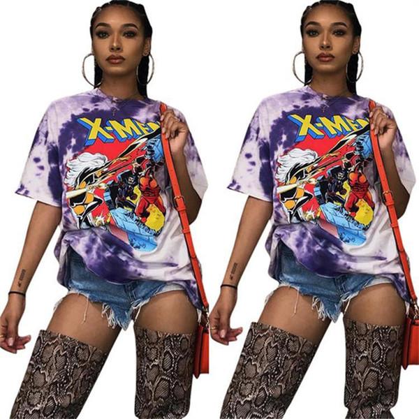 Sıcak En Kaliteli Yüksek Sokak Tasarım 2019 Casual Stil Kadın Tees Mektup O-Boyun Kısa Sleev Lady Bodycon Tees t shirt sqfs CQ5009