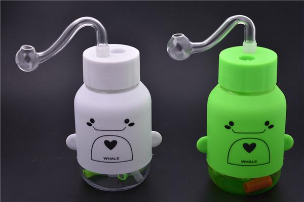 New Cartoon plastica narghilè bong rig bong portatile tubi per l'acqua 10mm femmina bong comune per fumare plastica gorgogliatore