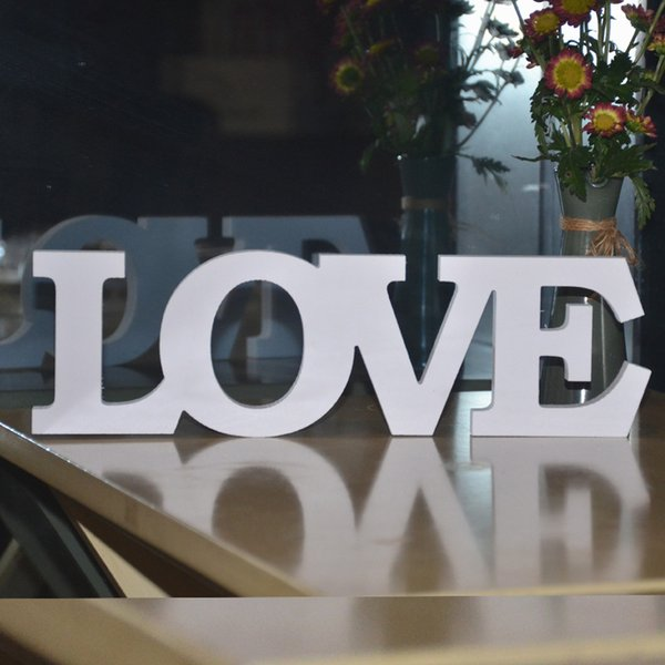 rops decoration White LOVE Letters Wooden Romantic Vintage Freestanding Wedding Home Table Decoration Marriage Love Wedding Sign photo pr...