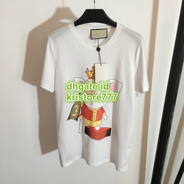 Summer Women T-Shirt With Pig Beads Tee Letter Print Crew Neck T-Shirt Short Sleeve Female Tee S-L 19