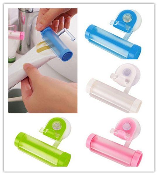 Tubo de laminación plástico colorido Squeezer Pasta de dientes Dispensador fácil Accesorios de baño de baño titular
