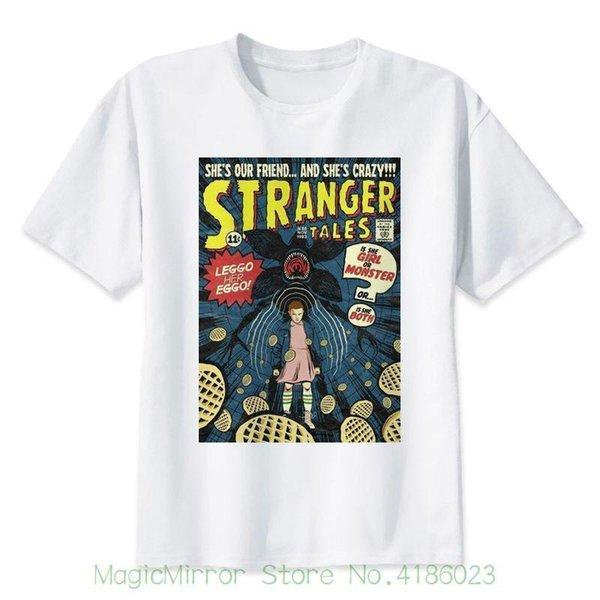 Stranger Things Аниме Вафли Футболки Новые с коротким рукавом с круглым воротом Мужские футболки Мода 2018
