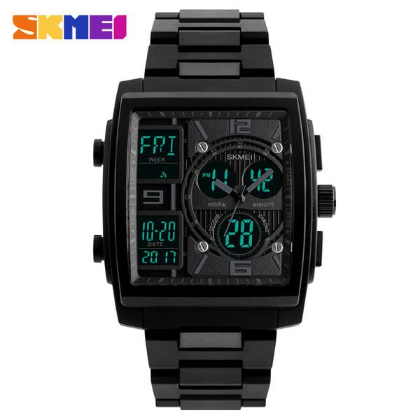 SKMEI Men Sport Watch Clock Electronic Dual Time Waterproof Watches Chrono Countdown Digital Wristwatch Relogio Masculino 1274
