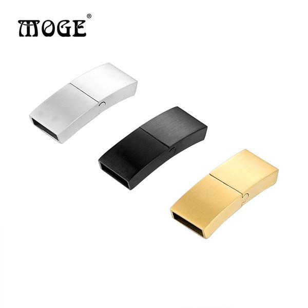 Großhandel 5 teile / los 12 * 6mm 316l Edelstahl Schnalle Magnet Haken Schmuck Erkenntnisse Für Leder Armband DIY Schmuck
