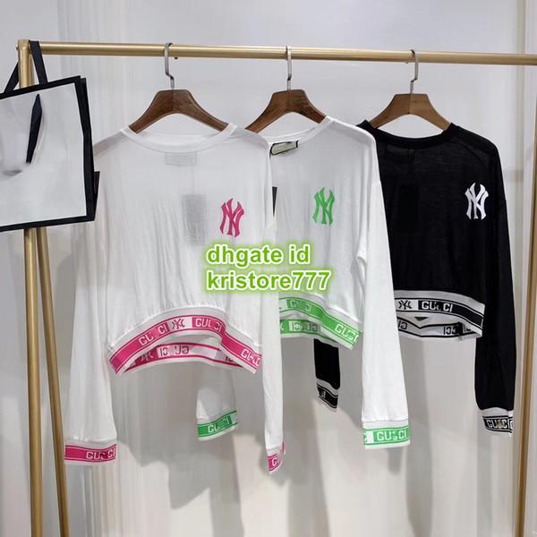 De gama alta de las mujeres de la vendimia camisa de gran tamaño con la letra de impresión chaleco femenino camisetas casuales Girls Runway Tops camiseta corta blusa camiseta sudadera