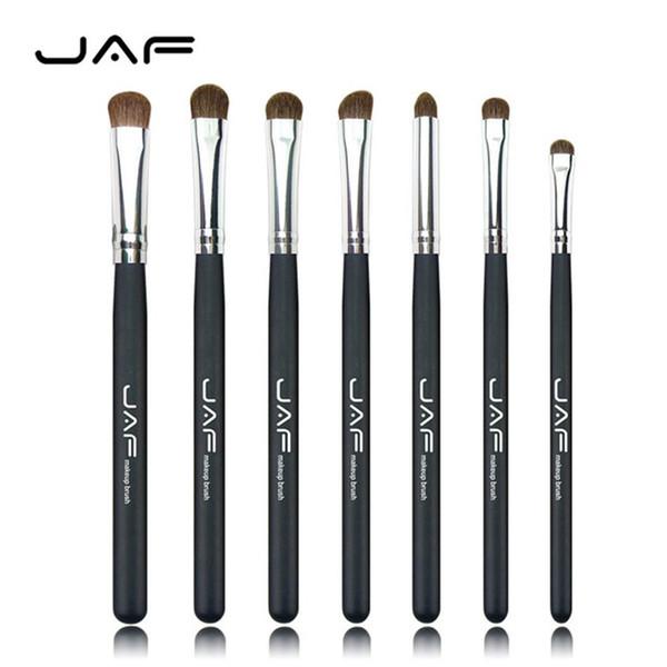 JAF 3 Renkler için 7 adet Fırçalar Makyaj 100% Doğal Hayvan At Pony Saç Göz Makyaj Fırça Seti JE07PY