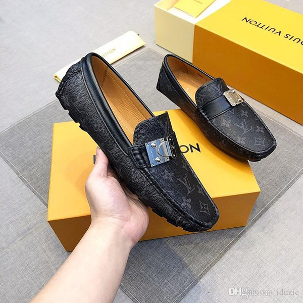 Man loafers Luxurious brand men dress shoes Business wedding shoes fashion Designers shoes Size 38-45