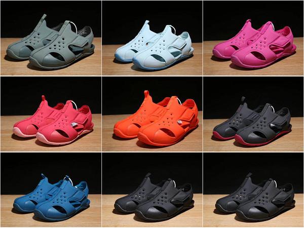 8 modelos de colores para niños Sandalias Moda infantil Zapatillas de verano Zapatillas de playa para niños y gril Zapatillas de playa deportivas de moda tamaños 22-35