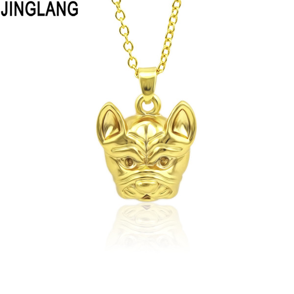 JINGLANG Women Plating Gold Color Mother Dog Shaped Pendant Animal Pendant Gift Necklace Chains Jewelry