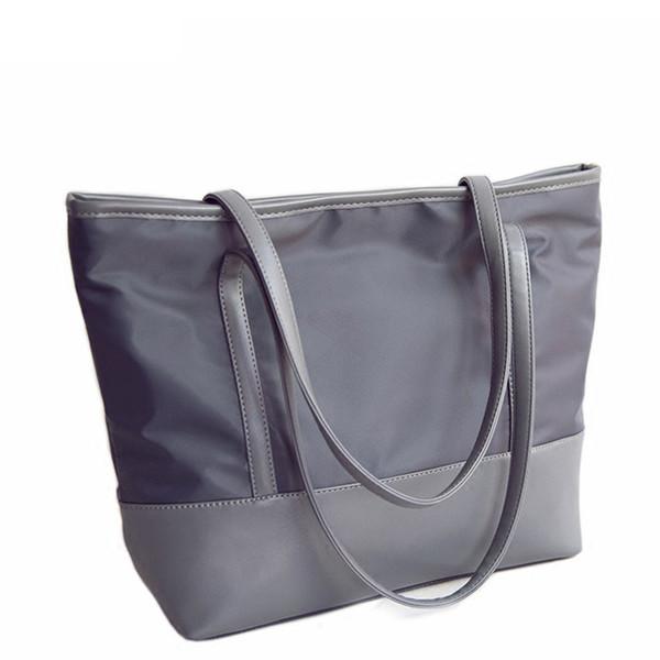 Nouveau Simple Designers De La Mode Dames Sacs À Main Grandes Femmes Sacs En Nylon Solide Épaule Étanche Fourre-Tout Sacs Pt1073