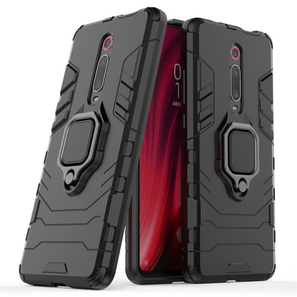 For Xiaomi Redmi K20 Mi 9T Pro Case Cover Hard Hybrid Armor Soft Silicone Edge Matte Finished Anti Fingerprint with Stand Foldable