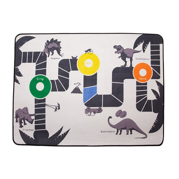 top popular Baby Rug for Crawling - Kids Play House Carpet Dinosaur Play Mat for Room Decor, Activity Play Game - 100x140cm 2021