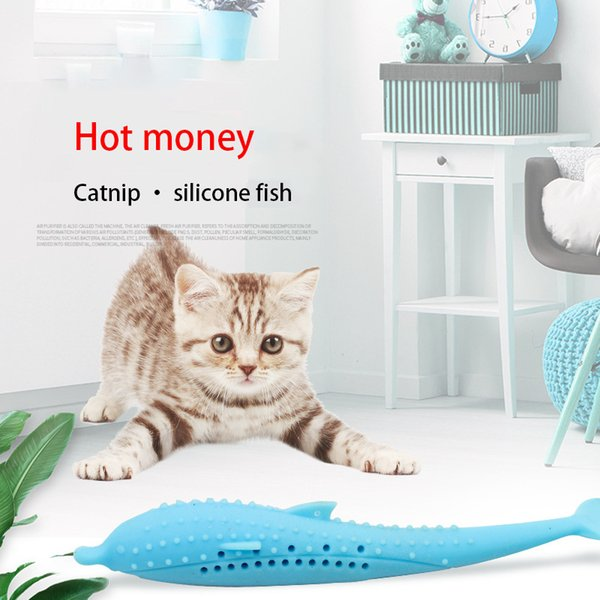 interactive pet cat self-cleaning toothbrush with catnip toy silicone molar stick teeth cleaning for cats kitten kitty supplies