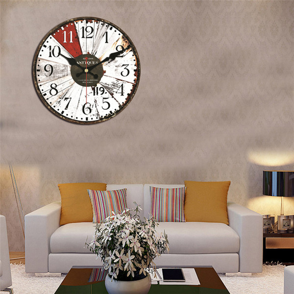 Office Wall Decor Clocks For Kitchen Wall Art Large Wall Clocks Vintage  Wooden Clocks Brief Design Silent Home Cafe ZJ0457 Rooster Wall Clock Round  ...